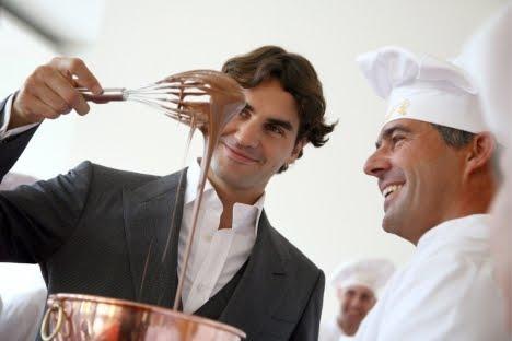 Roger Federer Lindt match
