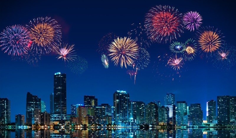 Fireworks in Miami
